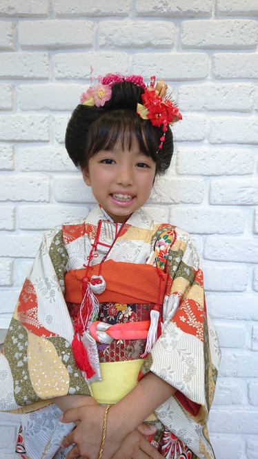 H29年、七五三、日本髪 (葛飾区、亀有、堀切の美容室SHAPE)